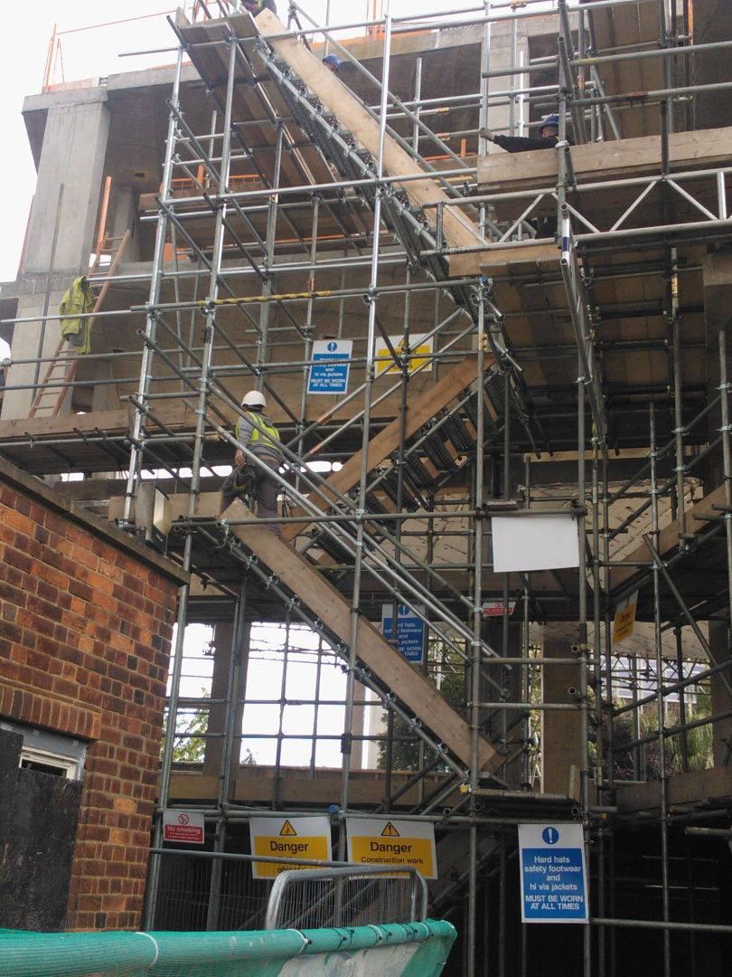 scaffolding steps